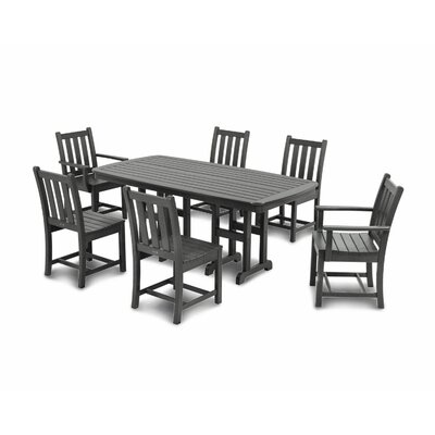 Traditional Garden 7 Piece Dining Set Finish: Slate Grey