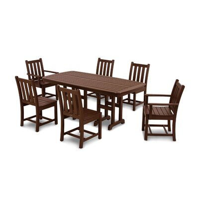 Traditional Garden 7 Piece Dining Set Finish: Mahogany