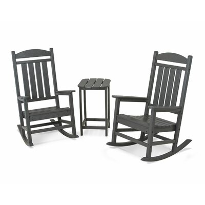 Presidential 3 Piece Rocker Set Finish: Slate Grey