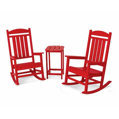 Presidential 3 Piece Rocker Set Finish: Sunset Red