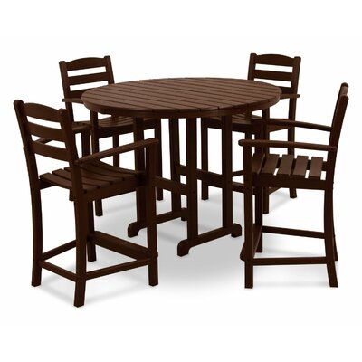 La Casa Cafe 5 Piece Counter Set Finish: Mahogany