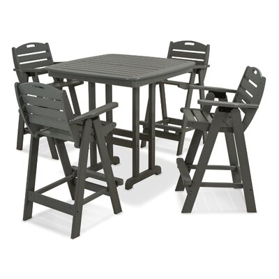 Nautical 5 Piece Bar Set Finish: Slate Grey