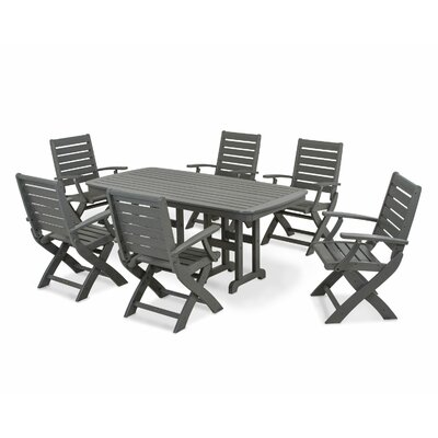 Signature 7 Piece Dining Set Finish: Slate Grey