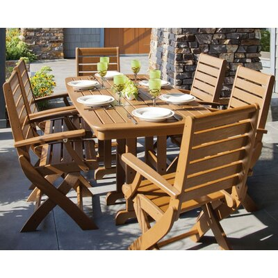 Signature 7 Piece Dining Set Finish: Teak