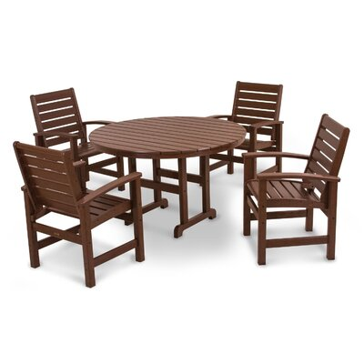 Signature 5 Piece Dining Set Finish: Mahogany