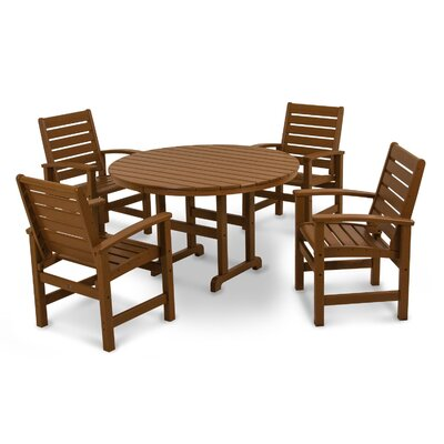 Signature 5 Piece Dining Set Finish: Teak