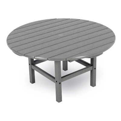 Round Conversation Table Finish: Slate Grey