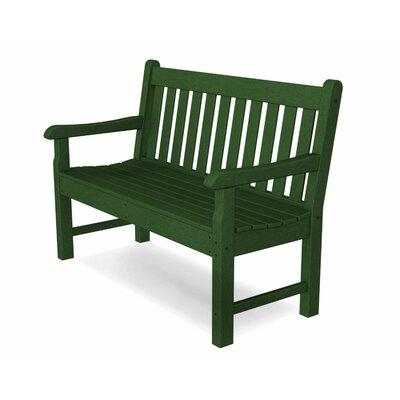 Rockford Plastic Garden Bench Color: Green, Size: 48
