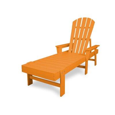 South Beach Chaise Lounge Finish: Tangerine