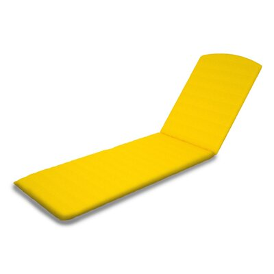 Outdoor Sunbrella Chaise Lounge Cushion Fabric: Sunflower Yellow