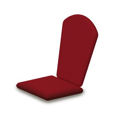 Outdoor Sunbrella Adirondack Chair Cushion Fabric: Logo Red
