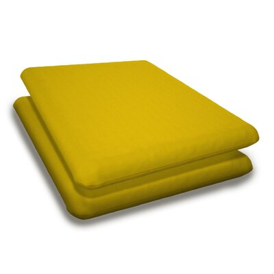 Outdoor Sunbrella Adirondack Chair Cushion Fabric: Sunflower Yellow