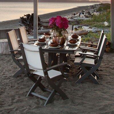 Coastal 7 Piece Dining Set Finish: Slate Grey