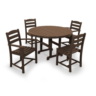 La Casa Caf� 5 Piece Dining Set Finish: Mahogany