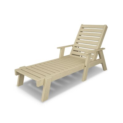 Captain Chaise Lounge with Arms Finish: Sand