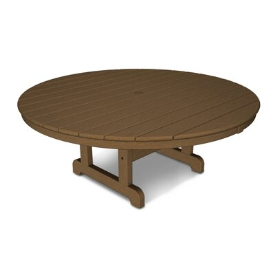 Round Conversation Coffee Table Finish: Teak, Table Size: 48""