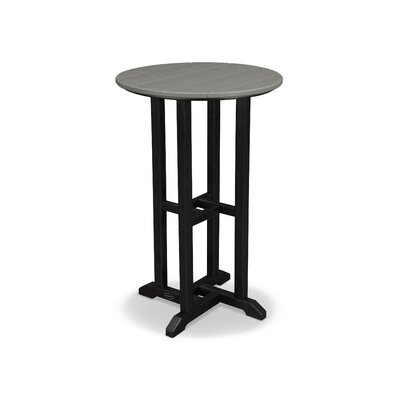 Contempo Bar Table Finish: Black Frame / Slate Grey