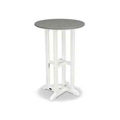 Contempo Bar Table Finish: White Frame / Slate Grey