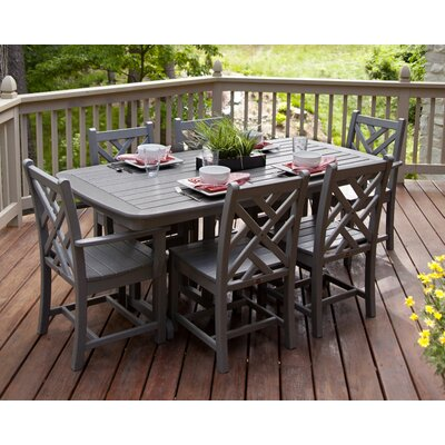 Chippendale 7 Piece Dining Set Finish: Slate Grey