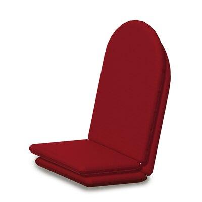 Outdoor Sunbrella Full Adirondack Chair Cushion Fabric: Logo Red