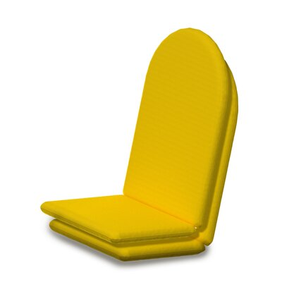 Outdoor Sunbrella Full Adirondack Chair Cushion Fabric: Sunflower Yellow