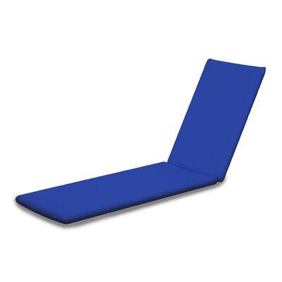 Outdoor Sunbrella Chaise Lounge Cushion Fabric: Pacific Blue