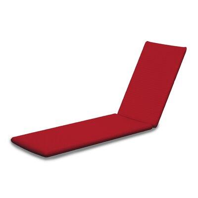 Outdoor Sunbrella Chaise Lounge Cushion Fabric: Logo Red