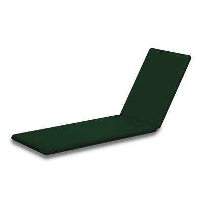Outdoor Sunbrella Chaise Lounge Cushion Fabric: Forest Green