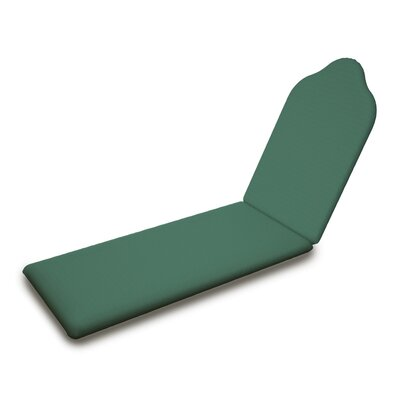 Outdoor Sunbrella Chaise Lounge Cushion Fabric: Spa