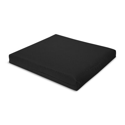 Outdoor Sunbrella Barstool Cushion Fabric: Black