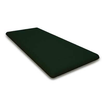 Outdoor Sunbrella Bench Cushion Fabric: Forest Green