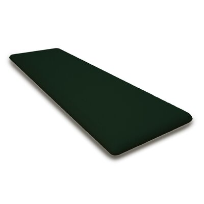 Outdoor Sunbrela Bench Cushion Fabric: Forest Green