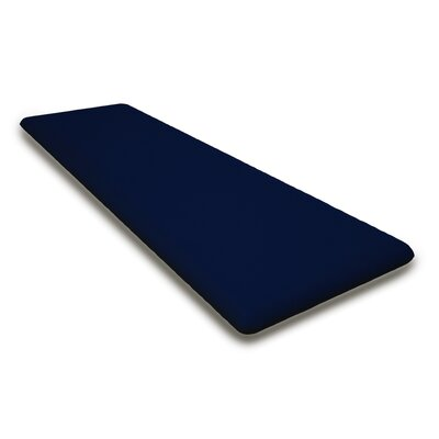 Outdoor Sunbrela Bench Cushion Fabric: Navy