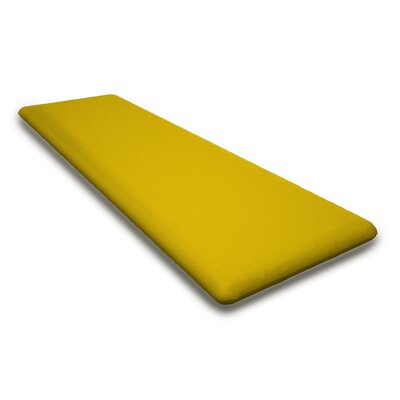 Outdoor Sunbrela Bench Cushion Fabric: Sunflower Yellow