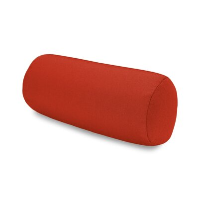 Solid Headrest Outdoor Sunbrella Bolster Color: Red