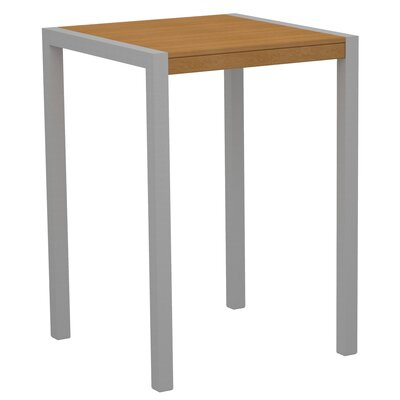 Mod Bar Table Base Finish: Textured White, Top Finish: Plastique