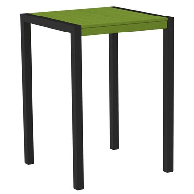 Mod Bar Table Base Finish: Textured Black, Top Finish: Lime