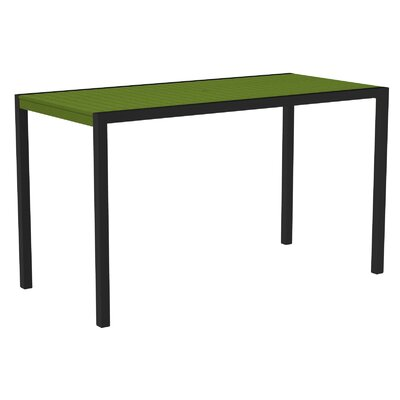 Mod Bar Table Top Finish: Lime, Base Finish: Textured Black