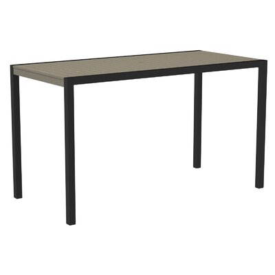 Mod Bar Table Base Finish: Textured Black, Top Finish: Sand