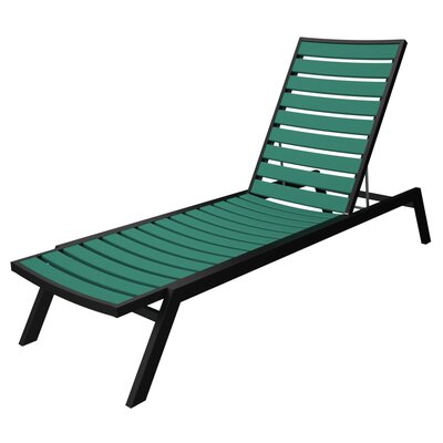 Euro Chaise Finish: Textured Black, Seat and Back Finish: Aruba