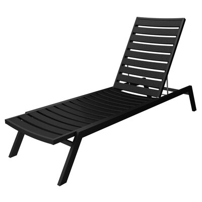 Euro Chaise Finish: Textured Black, Seat and Back Finish: Black