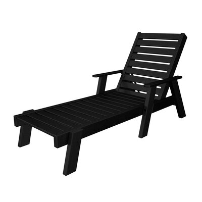Captain Chaise Lounge with Arms Finish: Black