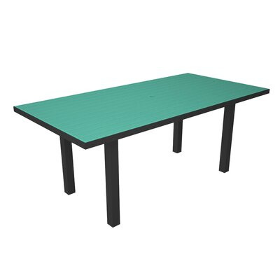 Euro Dining Table Finish: Black / Aruba