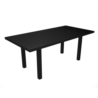 Euro Dining Table Finish: Black / Black