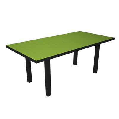 Euro Dining Table Finish: Black / Lime