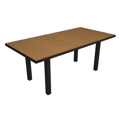Euro Dining Table Finish: Black / Plastique