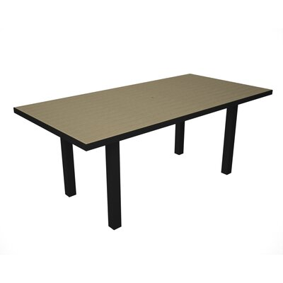 Euro Dining Table Finish: Black / Sand