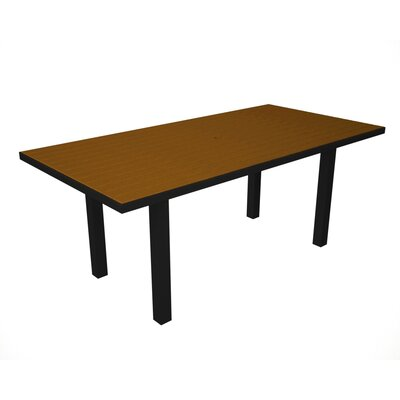 Euro Dining Table Table Finish: Black / Teak