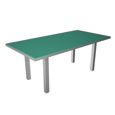 Euro Dining Table Finish: Silver / Aruba