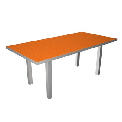 Euro Dining Table Finish: Silver / Tangerine